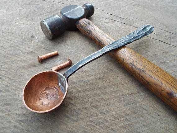"""<a href=""""https://www.etsy.com/listing/544056522/forged-coffee-scoop-hammered-copper-and?ga_order=most_relevant&ga_search_"""
