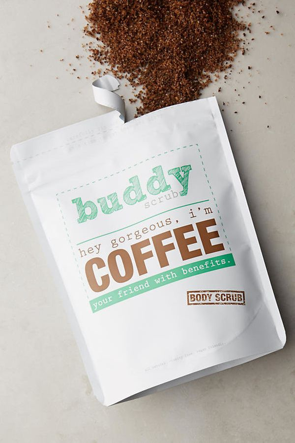 "It's exfoliating, energizing and smells delicious. <a href=""https://www.anthropologie.com/shop/buddy-scrub-coffee-body-scrub"""