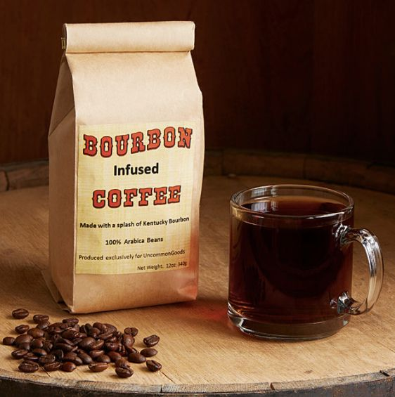 "Life's two best flavors, combined. <a href=""https://www.uncommongoods.com/product/bourbon-infused-coffee"" target=""_blank"">Sho"