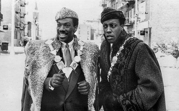 A publicity still from 'Coming to America' in