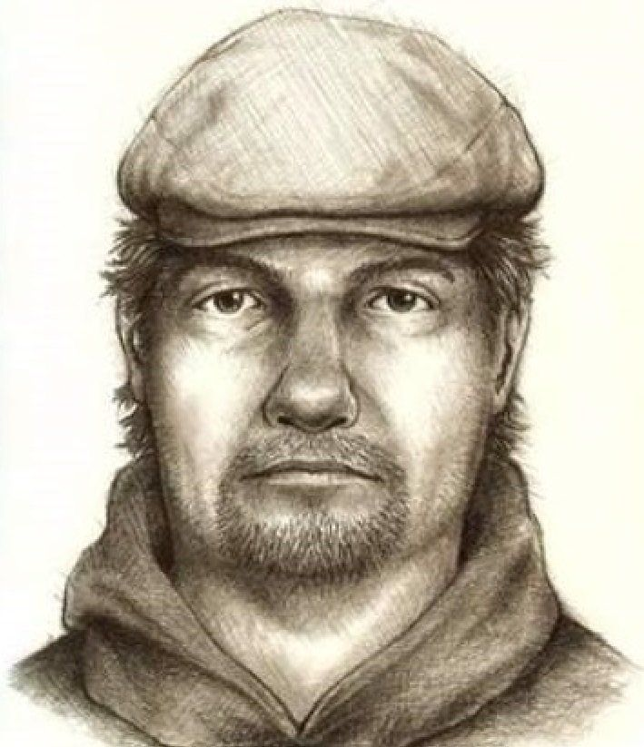 Suspect sketch released by Indiana State Police.