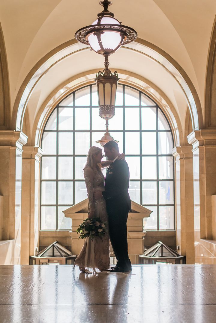 The couple said they love the grandeur of the Milwaukee County Courthouse building.