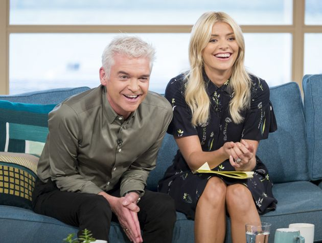 Holly with pal Phillip Schofield on 'This