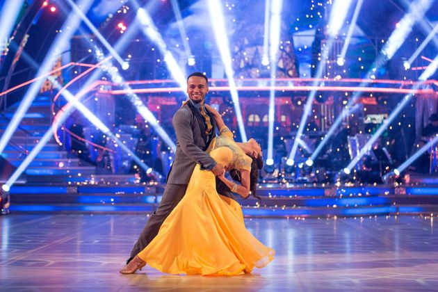 Aston and Janette in their 'Strictly'