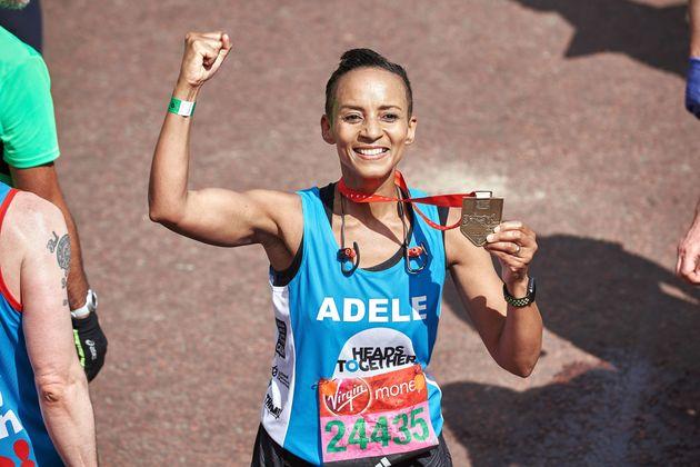 Adele ran the marathon for Heads