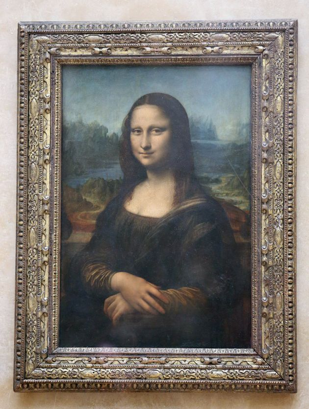A general view of Leonardo Da Vinci's Mona Lisa at the Louvre Museum in
