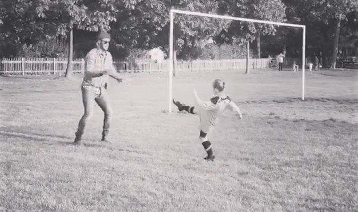 David Beckham Shares Adorable Videos Of Harper's First Football Lesson And She Has Serious
