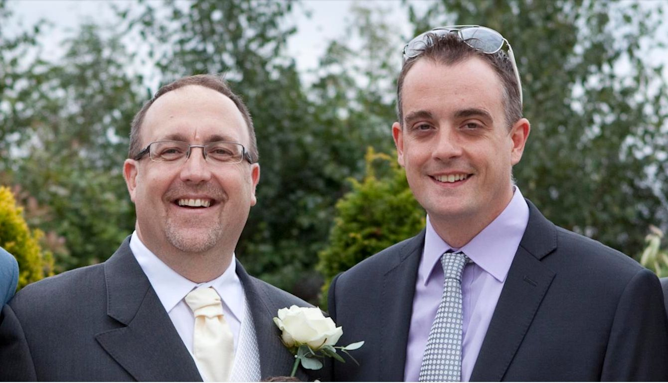 Scott Casson-Rennie (R) and his husband