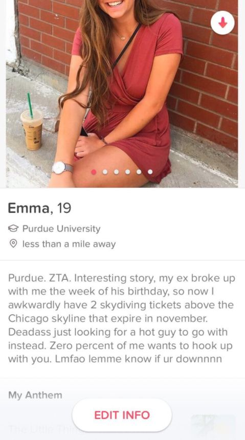 Student Advertises Her Ex's Birthday Present On Tinder And The Response She Gets Is