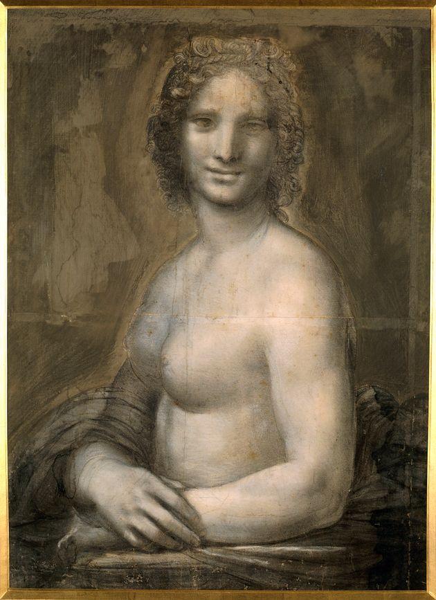 Leonardo da Vinci (1452-1519), Italian school. Nude woman. Study for the