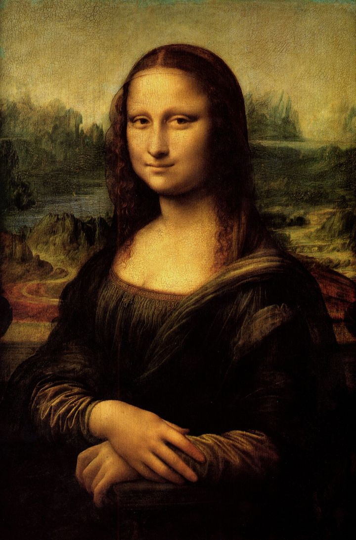 "Leonardo da Vinci's ""Mona Lisa,"" painted portrait of Lisa Gherardini, wife of Francesco del Giocondo. Oil on canvas"