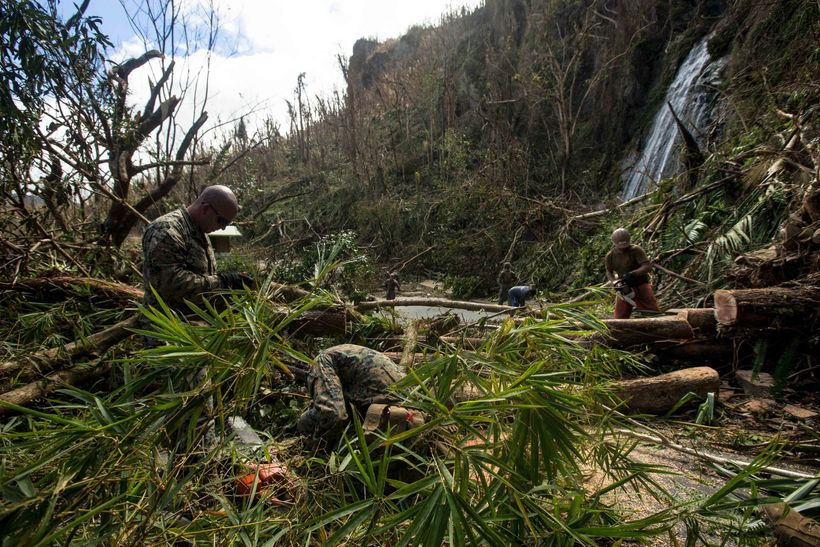 Efforts to clear roads to enable the distribution of relief supplies is ongoing. U.S. Marines with Battalion Landing Team 2nd