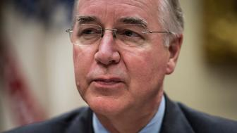 WASHINGTON, DC - JUNE 21: Health and Human Services Secretary Tom Price listens during a HHS listening session in the Roosevelt Room of the White House in Washington, DC on Wednesday, June 21, 2017. (Photo by Jabin Botsford/The Washington Post via Getty Images)
