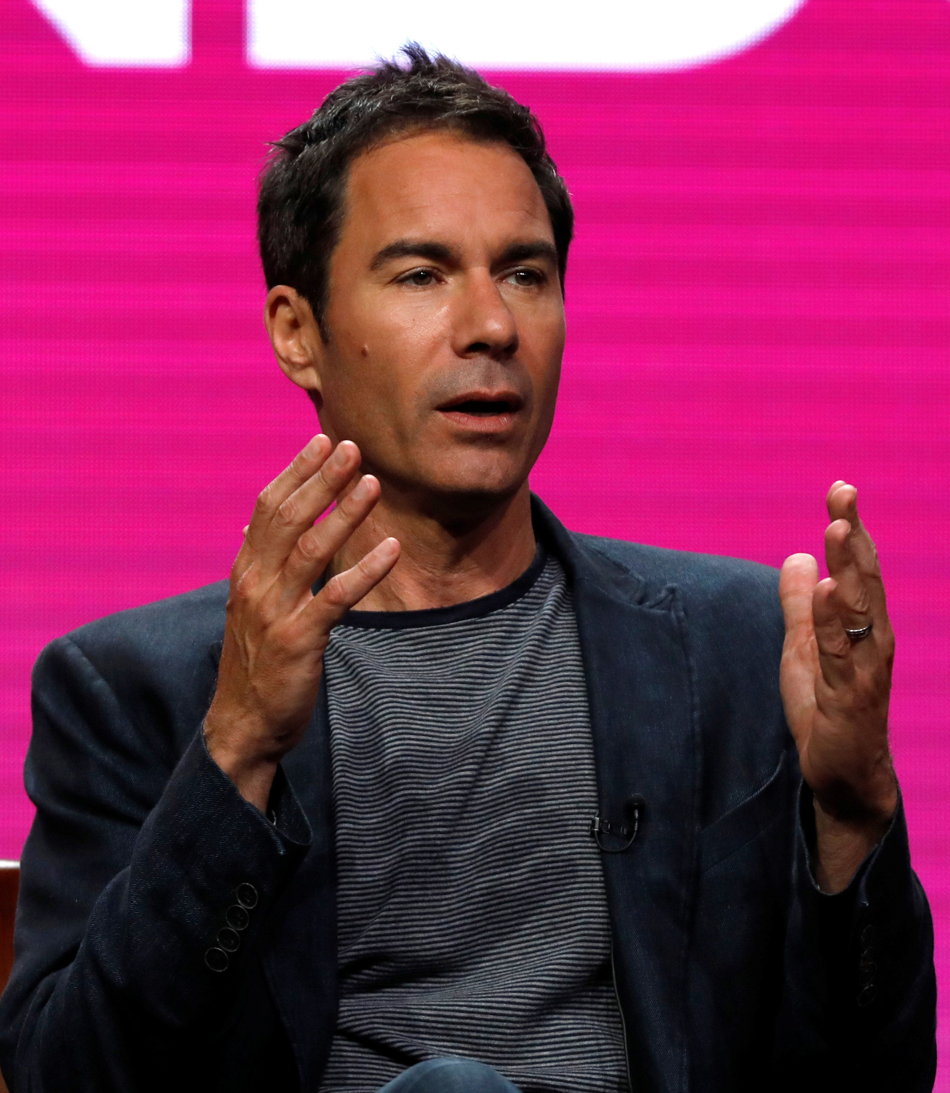 "Cast member Eric McCormack attends a panel for the television series ""Will & Grace"" during the TCA NBC Summer Press Tour"