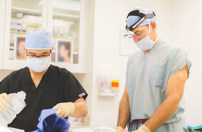 <strong>Dr. Diamond during Reconstructive Surgery</strong>