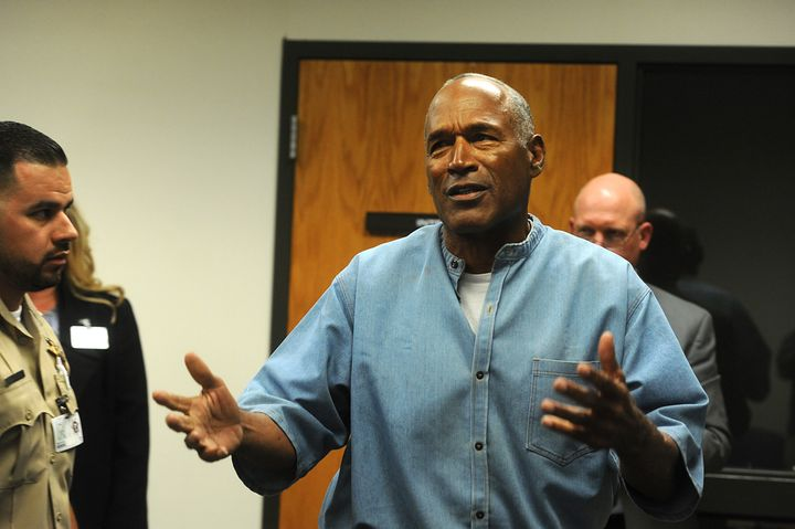 O.J. Simpson attends a parole hearing at Lovelock Correctional Center on July 20 in Nevada.