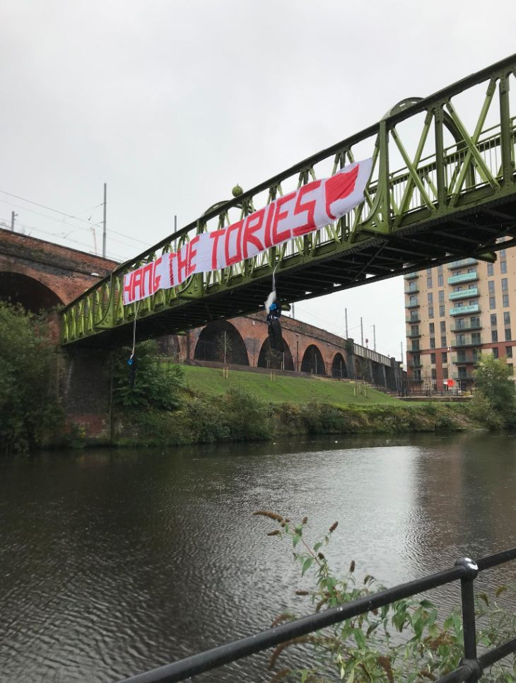 'Hang The Tories' Banner Triggers Outrage And Disgust Ahead Of Party's