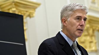 U.S. Supreme Court Justice Neil Gorsuch delivers remarks at the Fund for American Studies luncheon in Washington, D.C., U.S., on Thursday, Sept. 28, 2017. The U.S. Supreme Court today decided to rehear the issue of whether nonunion workers in the public sector can be required to pay a fee to a union for its costs in bargaining over their employment terms. Photographer: Andrew Harrer/Bloomberg via Getty Images