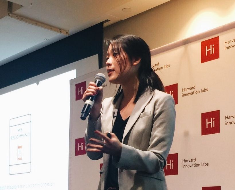 CEO April Koh speaking at Harvard innovation labs