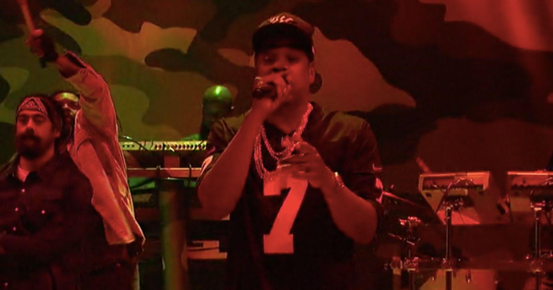 444718a7b Jay-Z Honors Colin Kaepernick On  Saturday Night Live