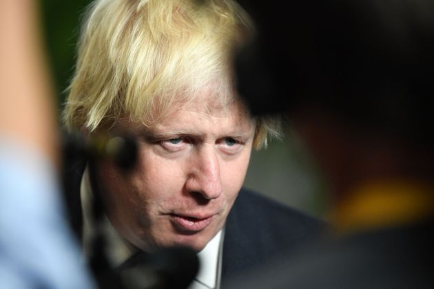 Foreign Secretary Boris Johnson following a speech by Prime Minister Theresa May in Florence,