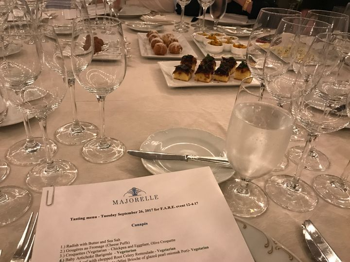 <p>Tasting at the Pierre Hotel with Charles Masson of Majorelle.</p>