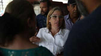 SAN JUAN, PUERTO RICO - SEPTEMBER 30:  San Juan Mayor Carmen Yulin Cruz deals with an emergency situation where patients at a hospital need to be moved because a generator stopped working in the aftermath of Hurricane Maria on September 30, 2017 in San Juan, Puerto Rico.  Puerto Rico experienced widespread damage including to most of the electrical, gas and water grid as well as agriculture after Hurricane Maria, a category 4 hurricane, passed through.  (Photo by Joe Raedle/Getty Images)