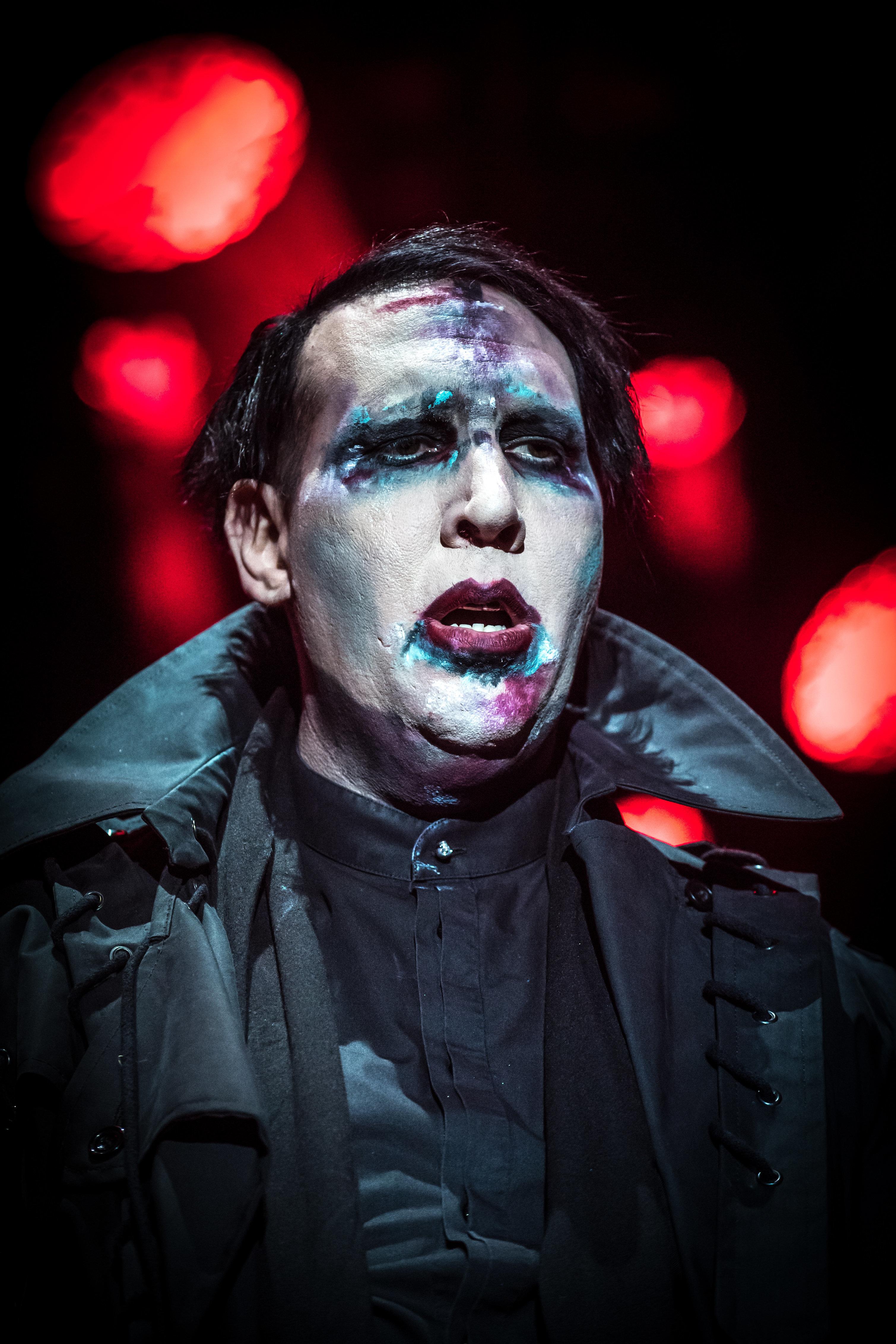VILLAFRANCA DI VERONA, ITALY - JULY 26:  Marilyn Manson Performs on July 26, 2017 in Villafranca di Verona, Italy.  (Photo by Francesco Prandoni/Redferns)