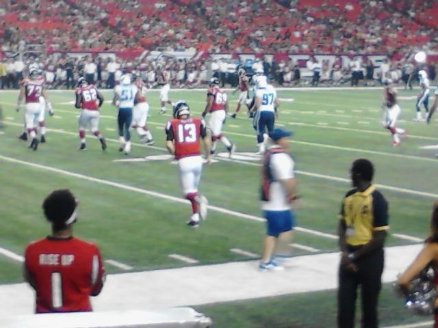 Game between the Atlanta Falcons and Tennessee Titans.