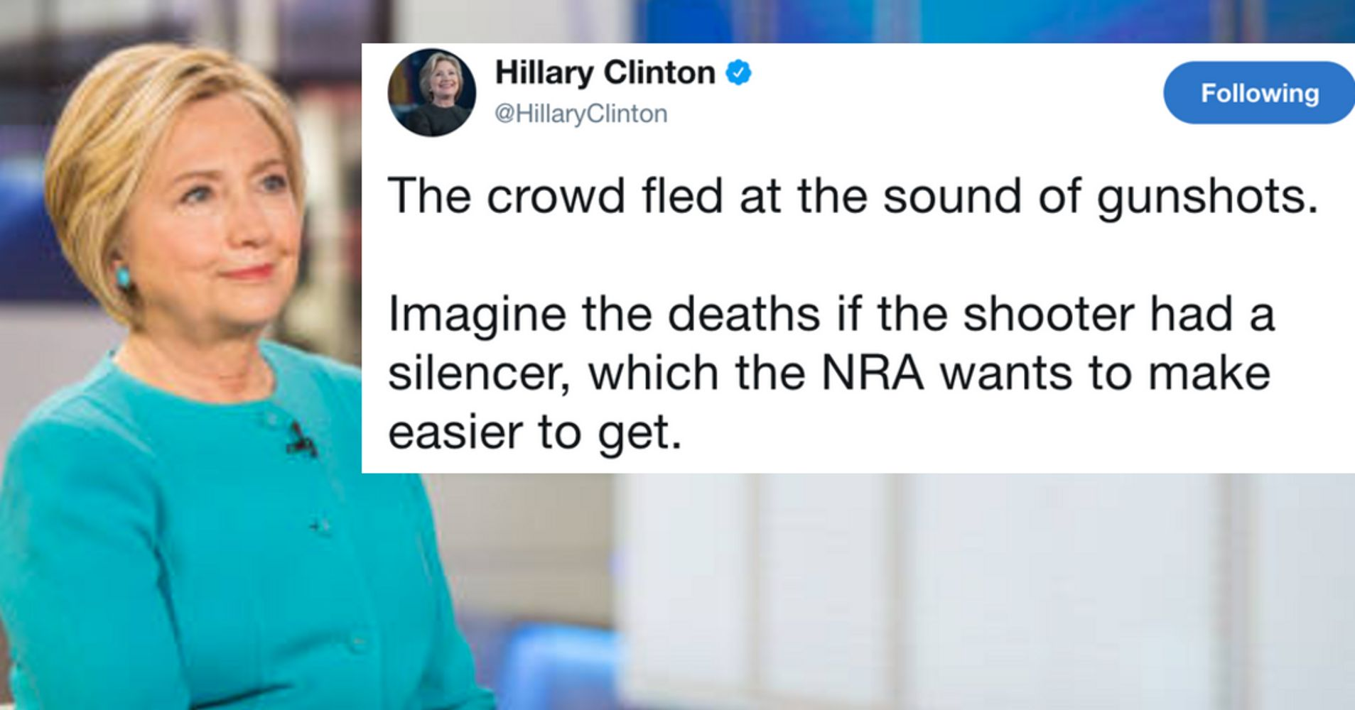 Hillary Clinton On Las Vegas Shooting: 'We Must Stand Up To The NRA'