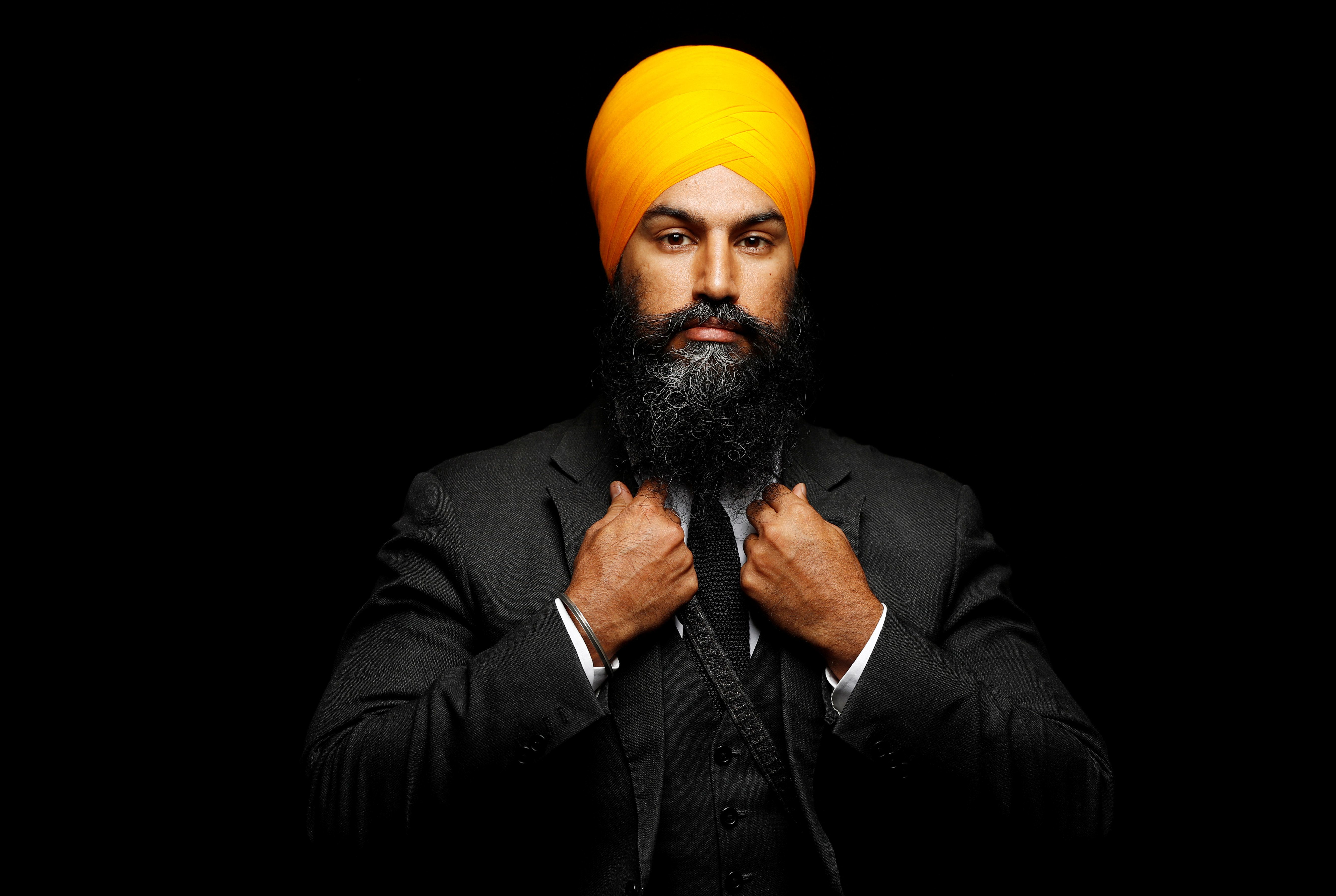 New Democratic Party federal leadership candidate Jagmeet Singh poses for a picture in Brampton, Ontario, Canada, July 13, 2017. Picture taken July 13, 2017.   REUTERS/Mark Blinch  TPX IMAGES OF THE DAY