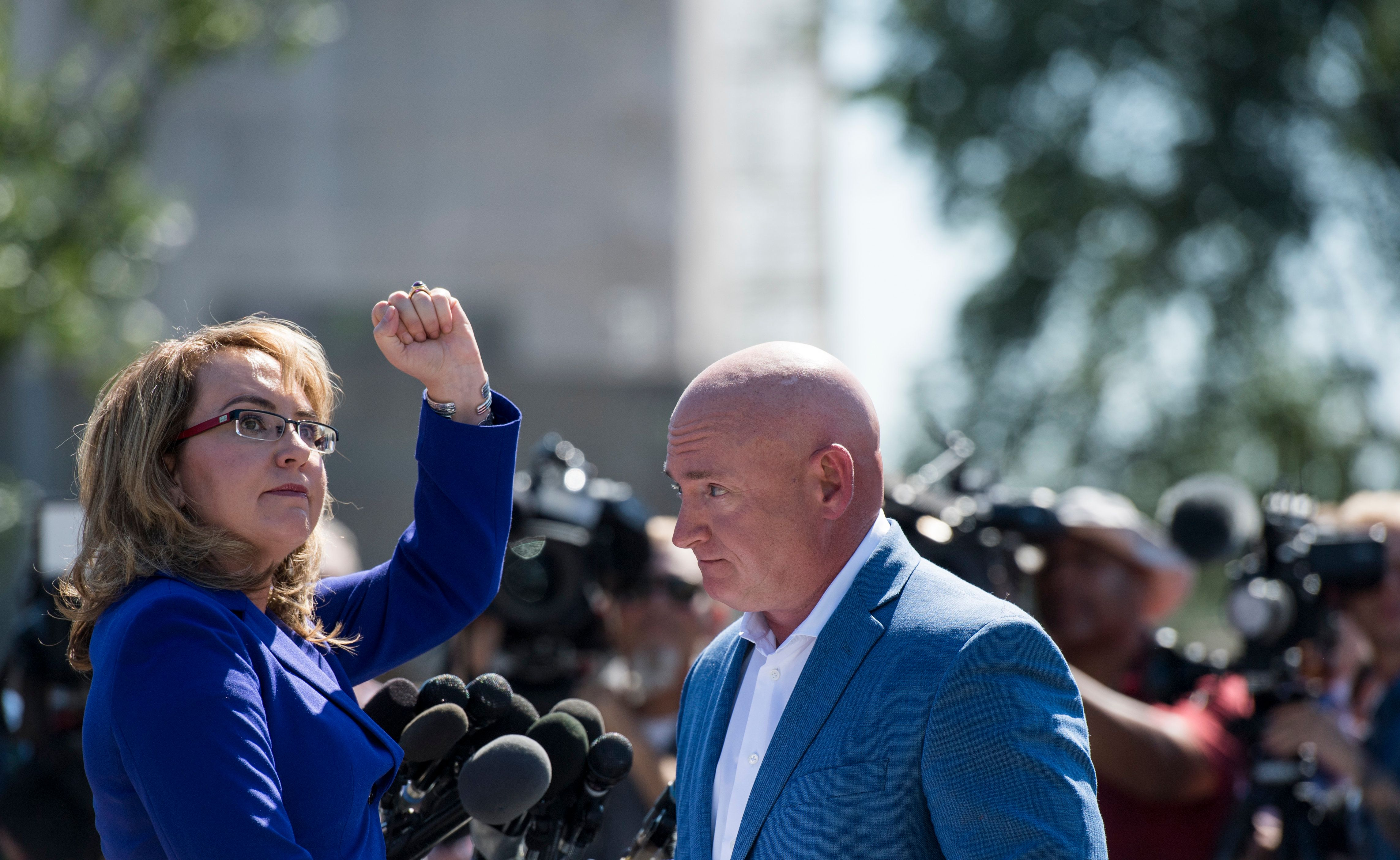 Beautiful UNITED STATES   OCTOBER 2: Former Congresswoman Gabrielle Giffords, D Ariz.,
