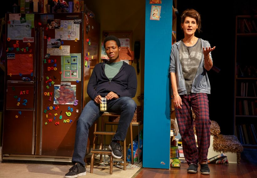 Hubert Point-Du Jour and Nia Vardalos in <em>Tiny Beautiful Things</em>