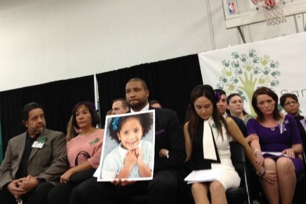 Parents of the victims of the Sandy Hook school shooting at the launch of Sandy Hook Promise in Newtown Conn in 2013.