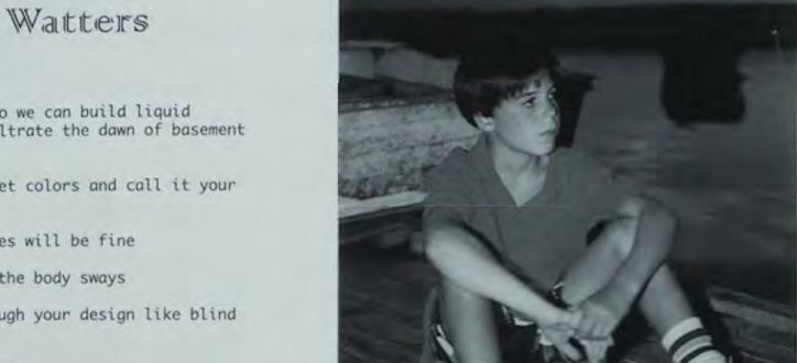 A photo of a young Jesse Watters from a Friends Academy yearbook.