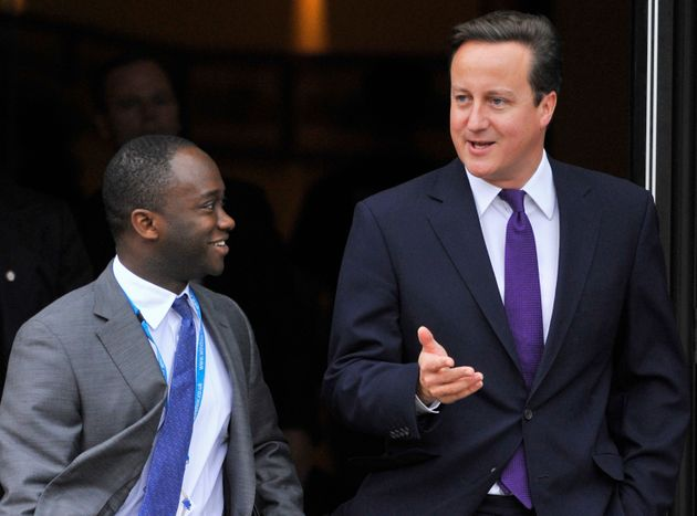 East Surrey MP Sam Gyimah with former PM David