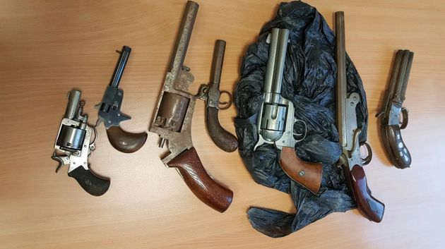 Guns handed in to the Met during the gun amnesty in