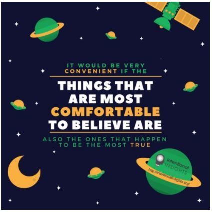 """Image warning us that comfortable beliefs aren't always true (Created by Isabelle Phuong for <a rel=""""nofollow"""" href=""""http://i"""