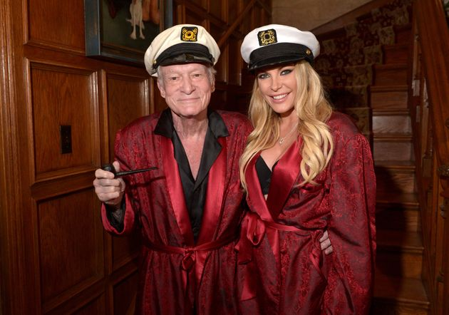 Hugh and Crystal Hefner at a party in