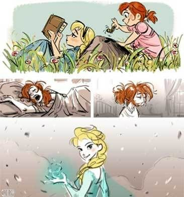 """Story sketches that Paul Briggs did for Disney's """"Frozen"""""""
