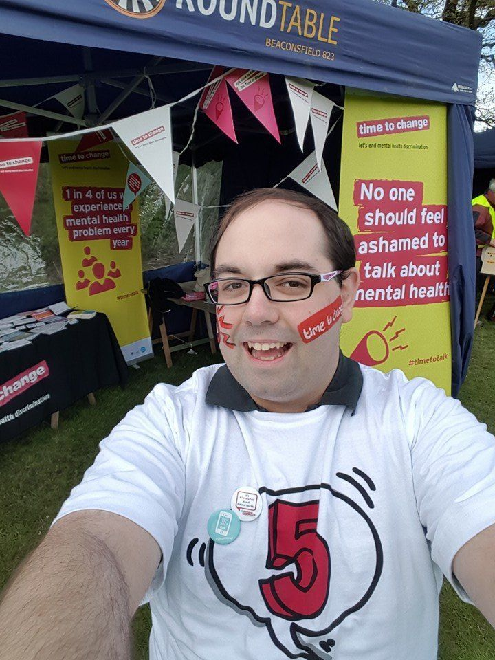 Matt campaigning for Time To Talk.