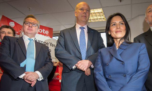 High-profile Brexiteers (l-r) Michael Gove, Chris Grayling and Priti