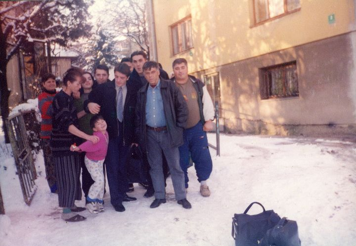 A photo of Lukovic with his family taken by Sabit before leaving Bosnia.