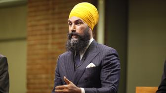 Jagmeet Singh speaks during an NDP leadership debate on Sept 27 2017