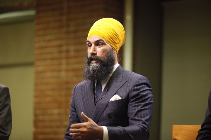 Jagmeet Singh speaks during an NDP leadership debate on Sept. 27, 2017.