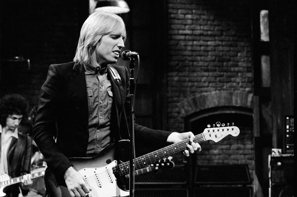 "Performing with The Heartbreakers on ""Saturday Night Live"" on Nov. 10, 1979."