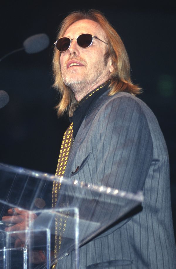 Accepting an award at the Bammies on March 7, 1998 in San Francisco, CA.