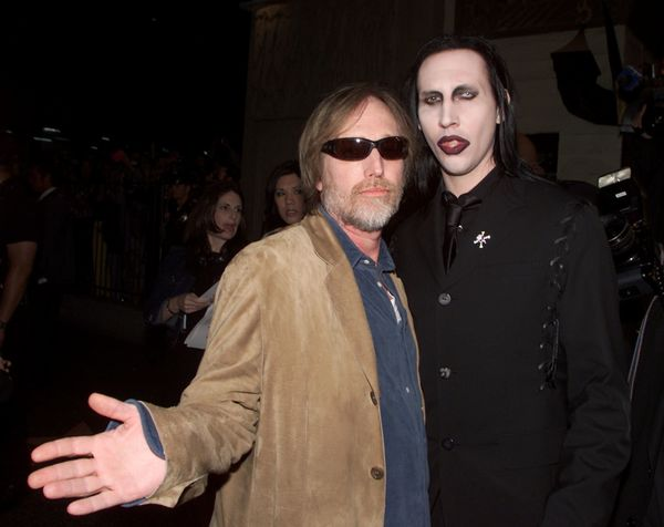 "With Marilyn Manson at the premiere of ""Blow"" in Los Angeles, CA."