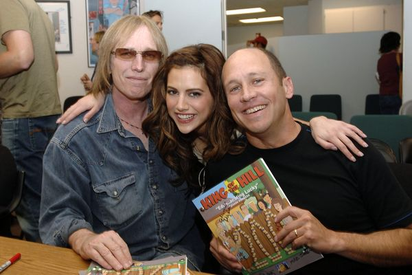 "With Mike Judge and Brittany Murphy on the 200th episode of ""King of the Hill"" in Century City, CA on April 8, 2005.&nbs"