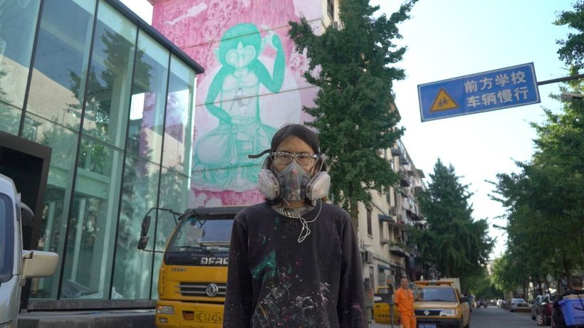 Fansack &#x2F; Chendu, China <em>In front of her mural</em>